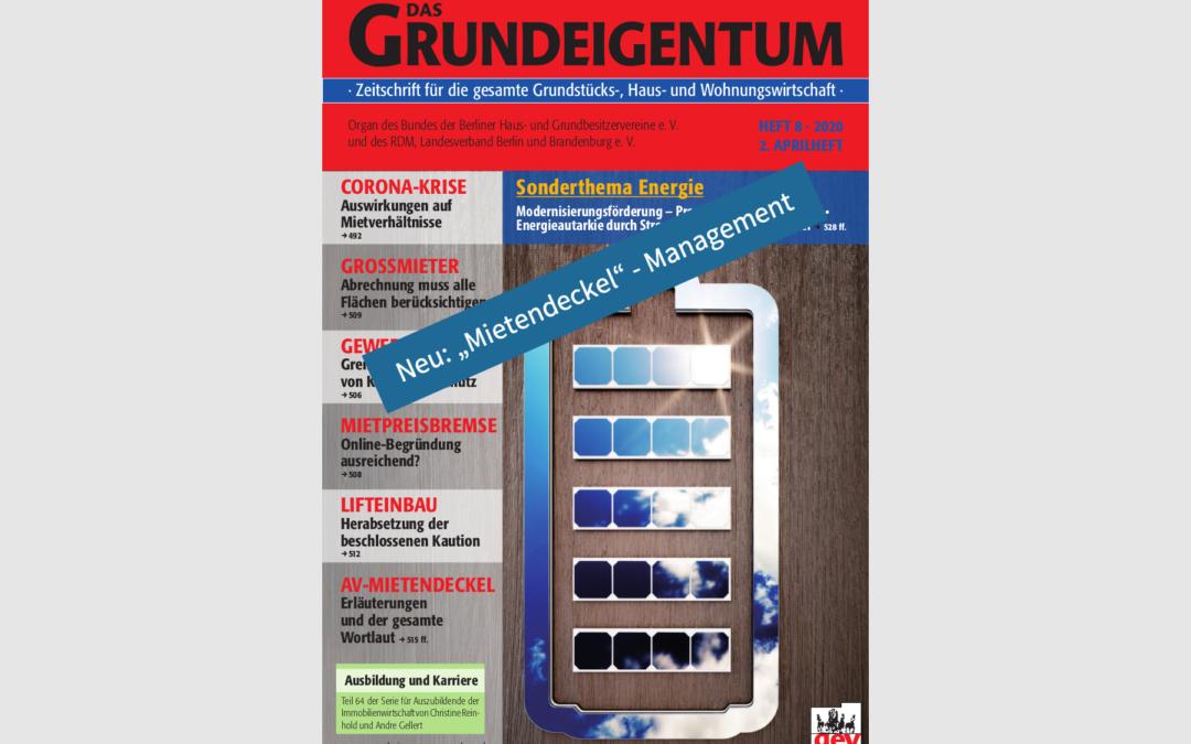 GRUNDEIGENTUM berichtet über haussoft Mietendeckel-Management
